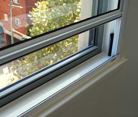 Acoustic aluminium double glazed window