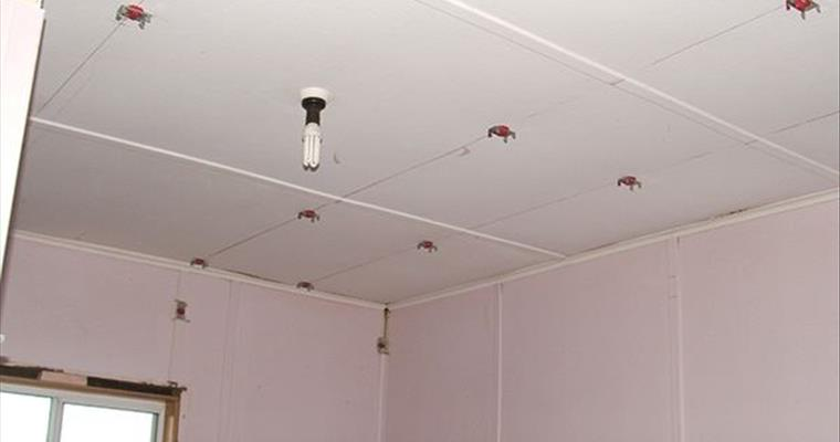 Isolation mounts on ceilings and walls