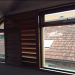 SoundBlock; Acrylic Magnetic window with cedar timber reveal extension to relocate shutters