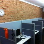 Grey Plano bevel tiles in call centre