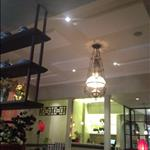 Plano bevel ceiling tiles in restaurant